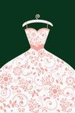 Hochzeitskleid mit Muster Stockfoto