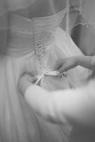 Hochzeitskleid, Vorbereitungsbraut Lizenzfreies Stockbild