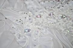 Hochzeitskleidabschluß oben Lizenzfreie Stockfotografie