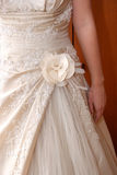 Hochzeitskleiddetail Lizenzfreie Stockfotografie
