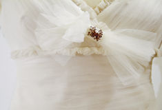 Hochzeitskleiddetail Stockfotografie