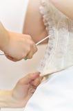 Hochzeitskleidkorsett Lizenzfreie Stockfotografie