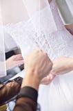 Hochzeitskleidkorsett Lizenzfreies Stockbild