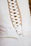 Hochzeitskleidkorsett Stockfoto