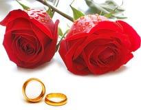 Hochzeitskonzept mit Rosen Stockbild
