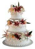 Hochzeitskuchen mit 3 Schichten Stockbilder