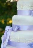 Hochzeitskuchendetails Lizenzfreie Stockfotos