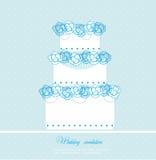 Hochzeitskuchenkarte Lizenzfreie Stockfotografie