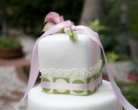 Hochzeitskuchenoberseite Stockfoto