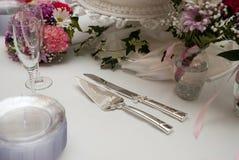 Hochzeitskuchentabelle Lizenzfreie Stockbilder