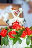 Hochzeitslaib auf einem Tuch lizenzfreie stockfotografie