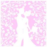 Hochzeitslaser-Schnitt vektor abbildung