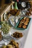 Hochzeitslebensmittel-Ideenaperitifs geschmackvoll stockfotos
