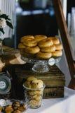 Hochzeitslebensmittel-Ideenaperitifs geschmackvoll lizenzfreies stockbild