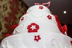 Hochzeitsmarzipankuchen Stockbild