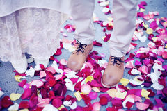 Hochzeitsmoment lizenzfreie stockbilder