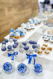 Hochzeitsnachtisch-Kuchenknalle Stockbilder