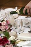 Hochzeitsnahrung und -getränk stockfoto
