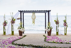 Wedding auf dem Strand. Lizenzfreies Stockbild
