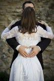 Hochzeitspaarholding Stockbilder