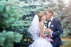 Hochzeitspaarporträt lizenzfreie stockbilder