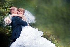 Hochzeitspaarporträt stockbild