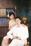 Hochzeitspaarportrait Stockbild
