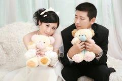 Hochzeitspaarportrait Lizenzfreie Stockfotografie