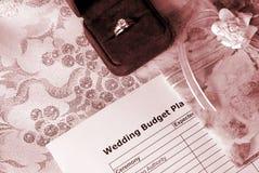 Hochzeitspläne Stockfoto