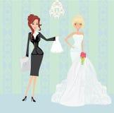 Hochzeitsplaner und -braut vektor abbildung