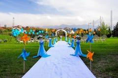 Hochzeitsplatz im Freien Lizenzfreie Stockfotografie