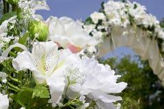 Hochzeitsplatzdekoration Stockfoto