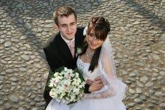 Hochzeitsportrait lizenzfreie stockfotos