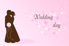 Hochzeitspostkarte stock abbildung