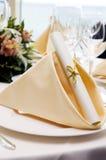 Hochzeitsrestauranttabelle Lizenzfreie Stockfotos