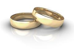 Hochzeitsringe Stockfoto