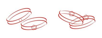 Hochzeitsringe vektor abbildung