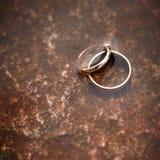 Hochzeitsringe. Stockfoto