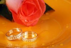 Hochzeitsringe Stockbild