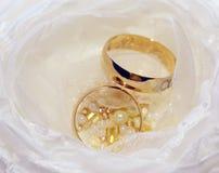 Hochzeitsringe Makro Stockbild