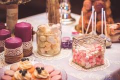 Hochzeitssüßigkeit Stockfotografie