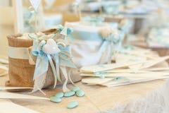 Hochzeitssüßigkeitsbuffet lizenzfreie stockbilder
