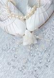 Hochzeitsschuhe mit Perlen und Kristallen Lizenzfreie Stockbilder