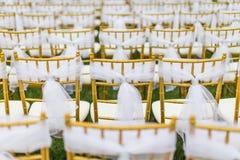Hochzeitsstühle Lizenzfreie Stockfotografie