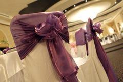 Hochzeitsstühle Stockfoto