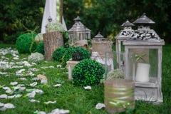 Hochzeitsstillleben in der rustikalen Art Retro- stilisiertes Foto Lizenzfreie Stockfotos