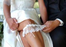 Hochzeitsstrumpfband Stockfoto