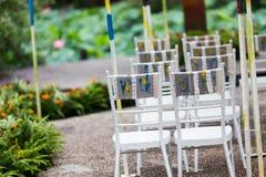 Hochzeitsstuhl Lizenzfreies Stockbild
