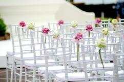 Hochzeitsstuhl Stockfotos