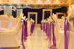 Hochzeitstühle des HochzeitHochzeitsfotos Stockbilder